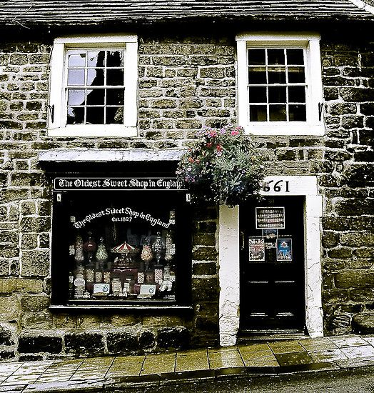 The Oldest Sweet Shop in England Est. 1827. Shop Front.