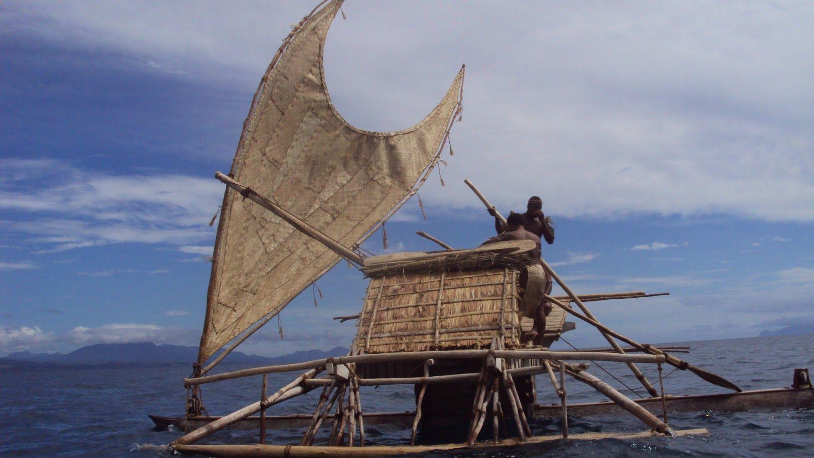 Vaka Tepuke Vaka Tepuke Sailing Off The Coast Of