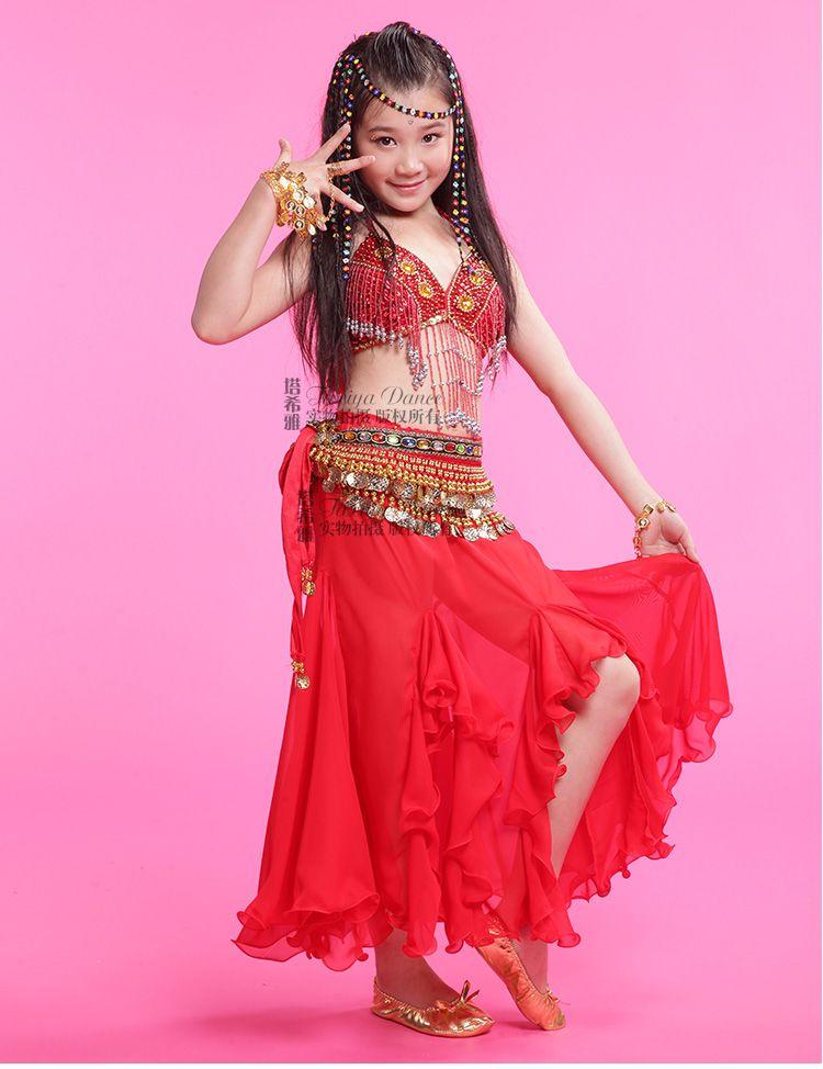 Trajes para danza del vientre 3 unidades ( sujetador + Dress + ...