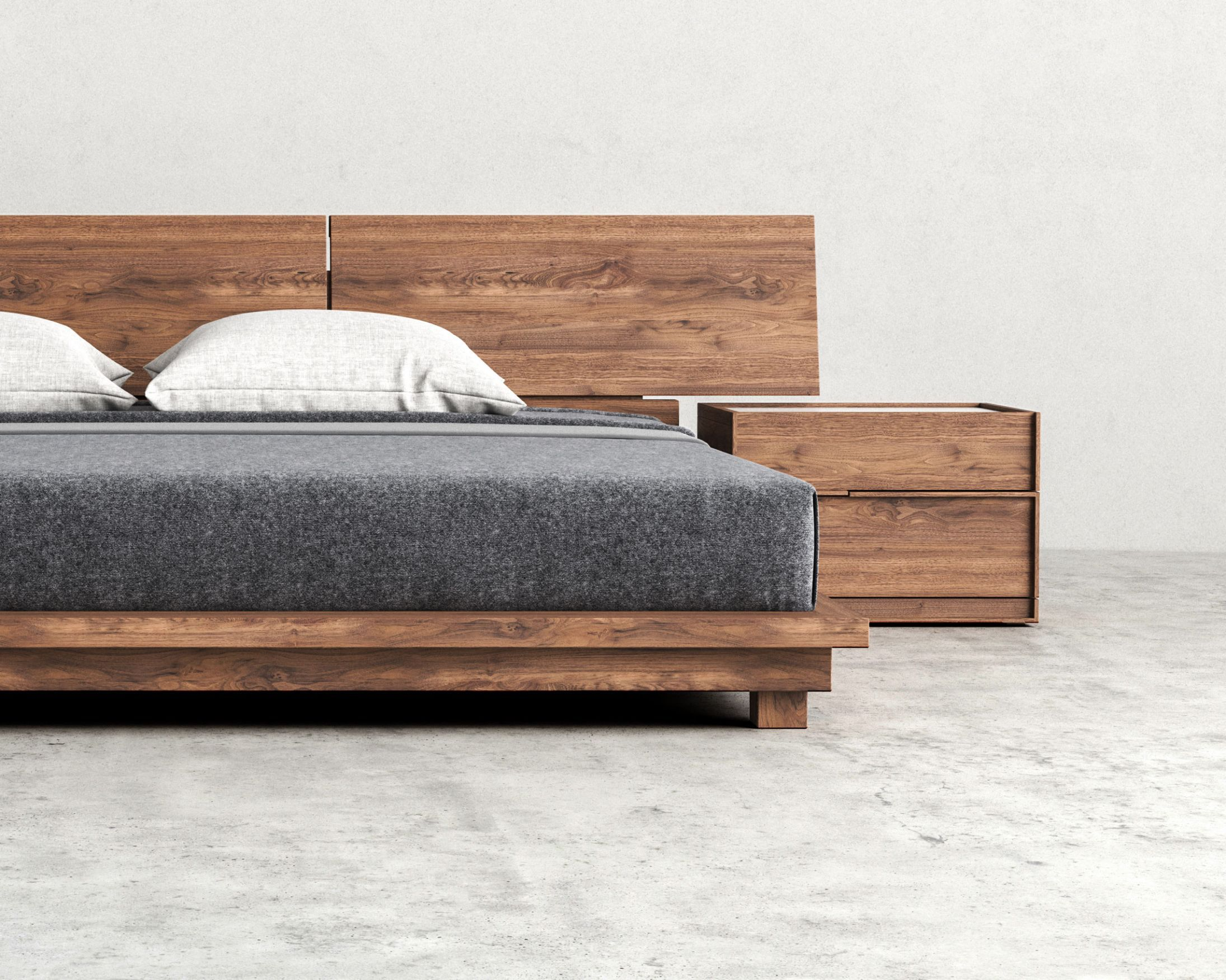 Hunter Bed Nightstands Bedrooms And Living Room Furniture # Meuble Design Zein Chloe