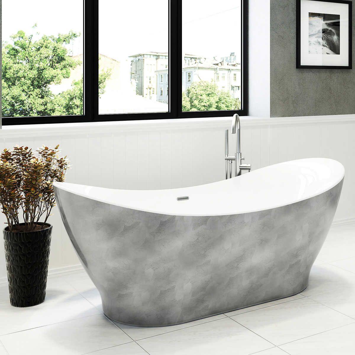 silver 1 Free standing tub, Luxury tub, Tub