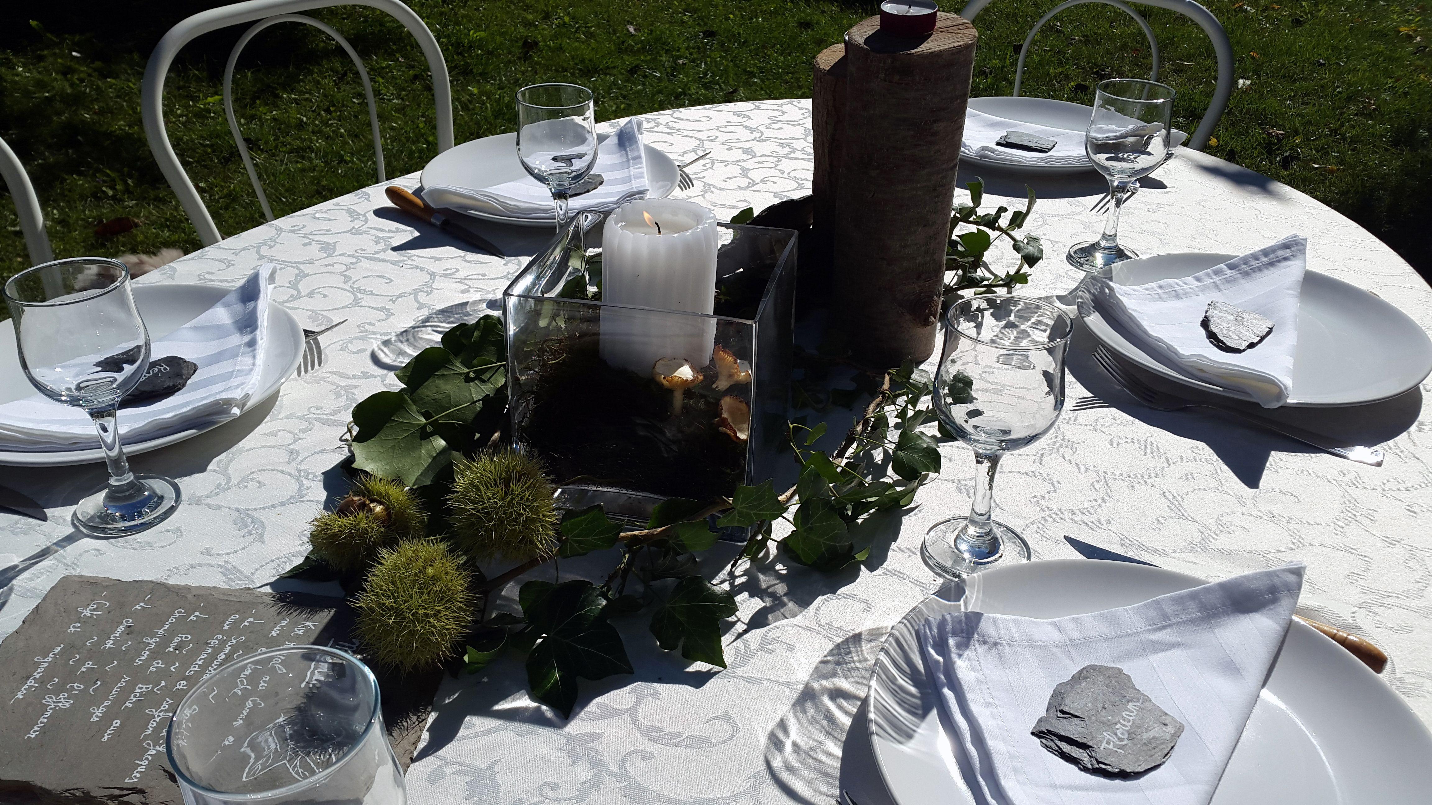 """Shooting photo """"Un petit air d'automne"""" par Cocktail Grenadine #weddingplanner #mariage #cocktailgrenadine #megève #centredetable #automne"""