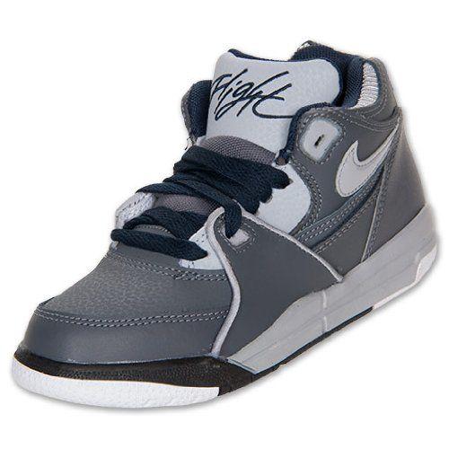 Nike Kid Flight 89 PS Preschool Shoes Dark Grey Wolf Grey