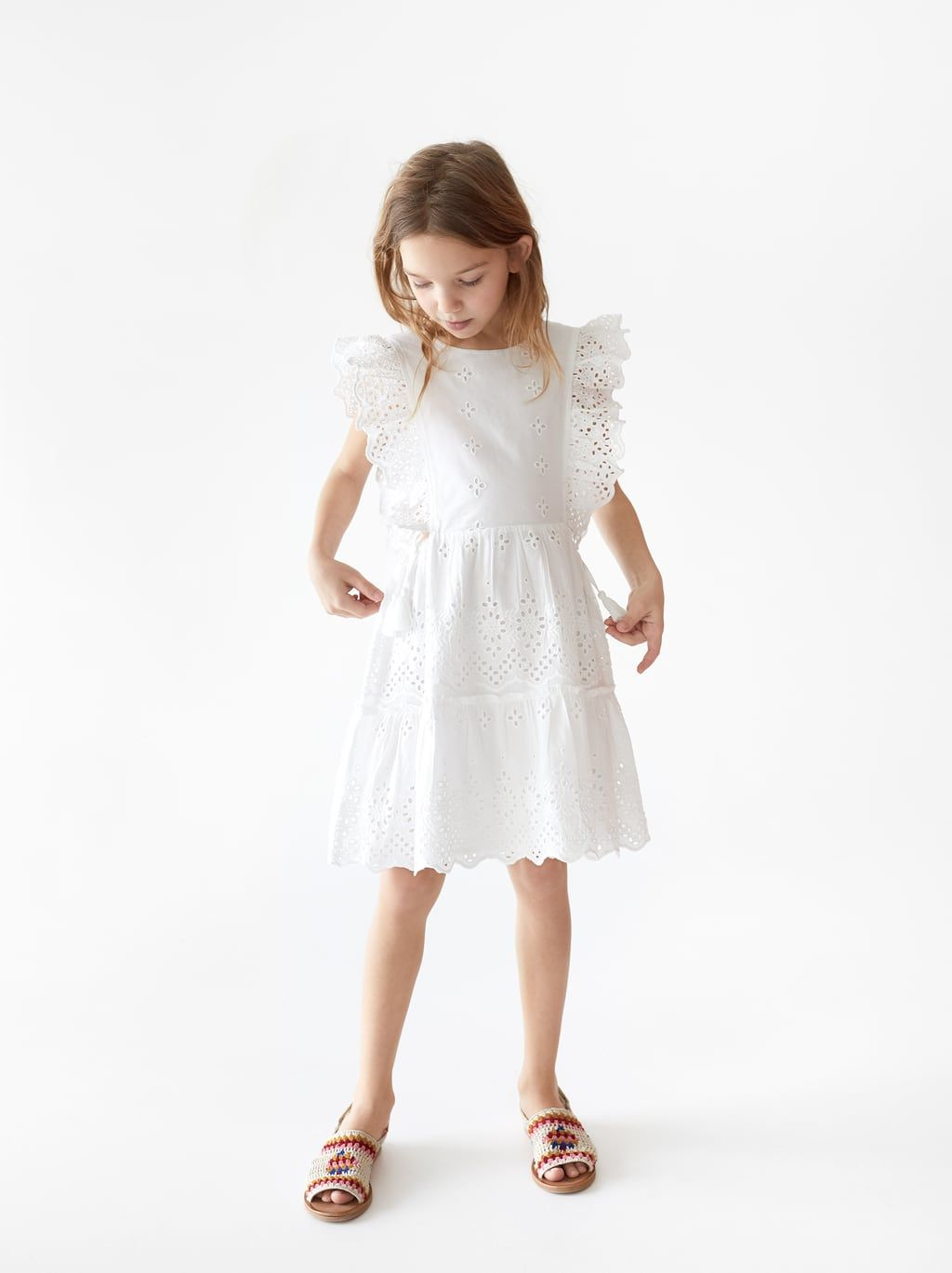 19a9af6c1c Dress with swiss embroidery | stuff for the kiddo | Dresses ...