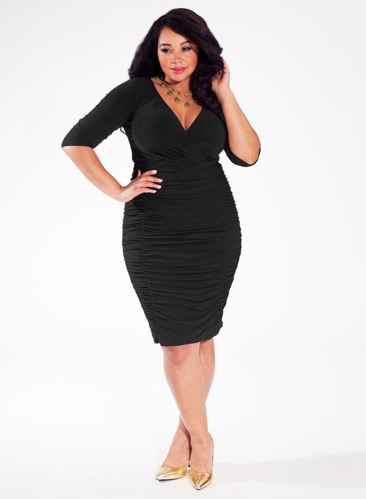 Ambrosia Plus Size Cocktail Dress in Black From The Plus Size Fashion Community At www.VintageAndCurvy.com