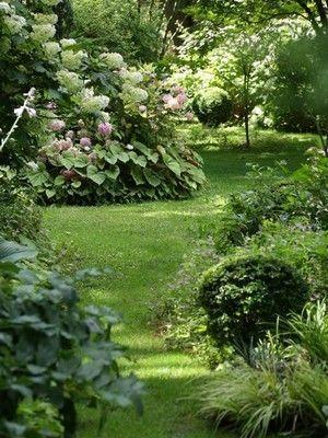 Garten-Stil: der Englische Garten oder englischer Garten, Natur und Romantik