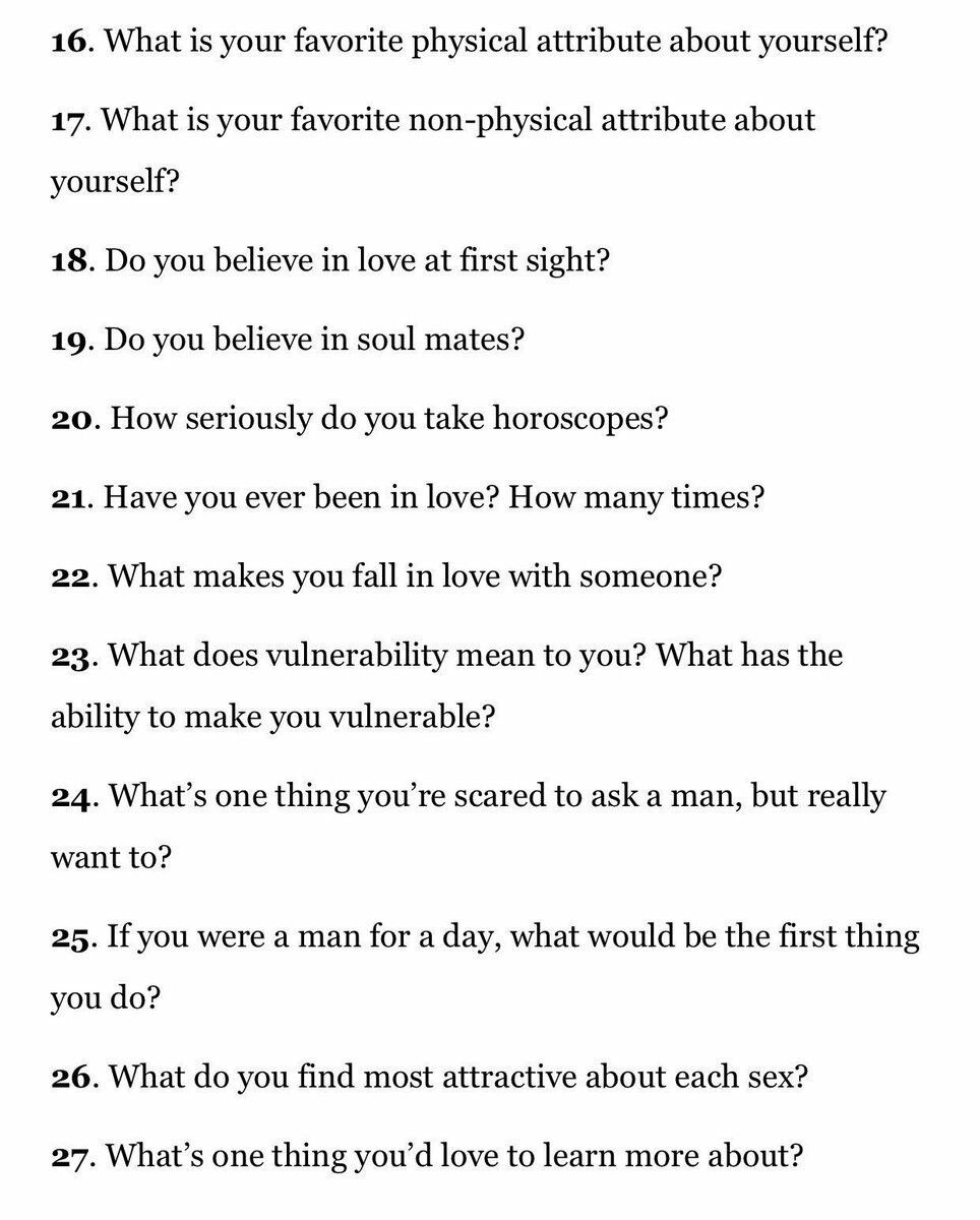 Serious dating questions to ask a guy