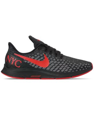Nike Men s Air Zoom Pegasus 35 Nyc Marathon Running Sneakers from Finish  Line - BLACK RED 9.5 57553e2c9