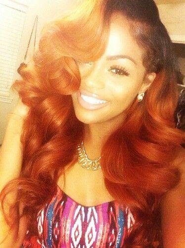 Fall Burnt Orange Hair Weave Pinterest Coloring