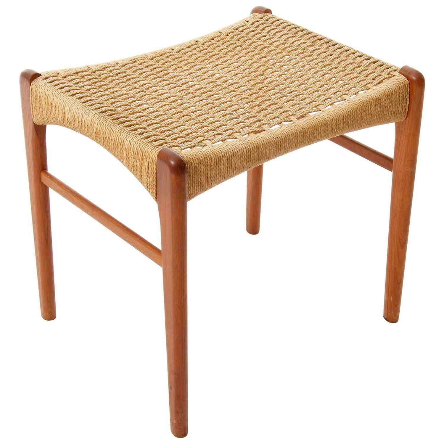 Teak Stool Denmark 1960s From A Unique Collection Of Antique