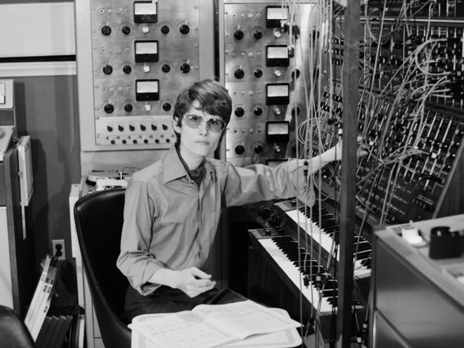 Walter/Wendy Carlos ( not sure which side is represented here ). Nice shades, though...