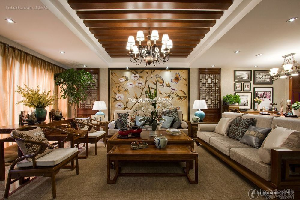 Nice ASIAN Style Interiors. Encyclopedia Of Chinese Southeast Asian Style Living  Room Picture Appreciation
