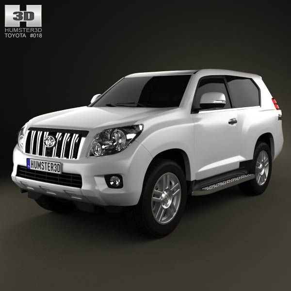 3d Model Of Toyota Land Cruiser Prado 3 Door 2011 Chevrolet Captiva Honda Accord Coupe Mitsubishi Outlander Sport