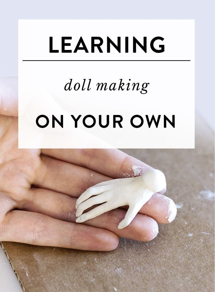 Where to start if you want to learn doll making on your own? #dollmaking