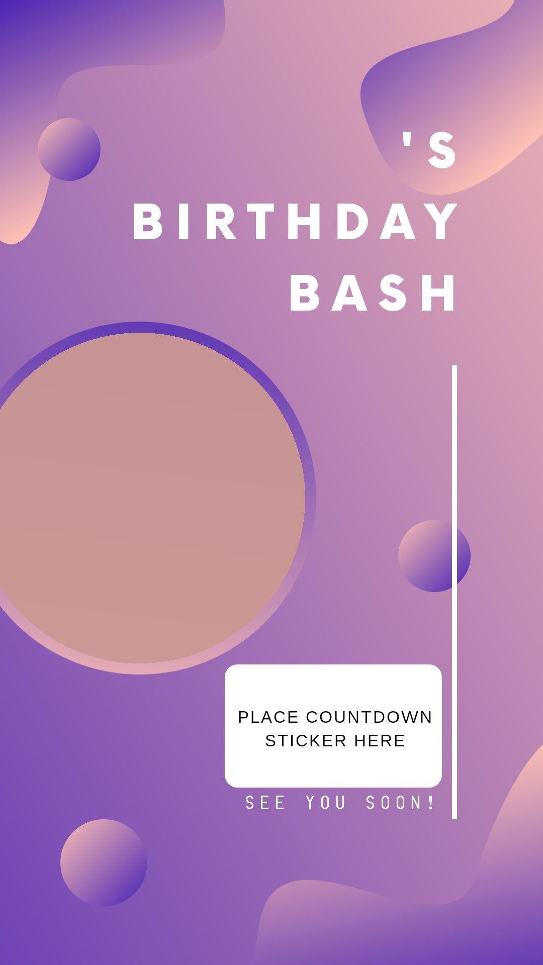 Countdown birthday story template   Birthday countdown, Friend ...