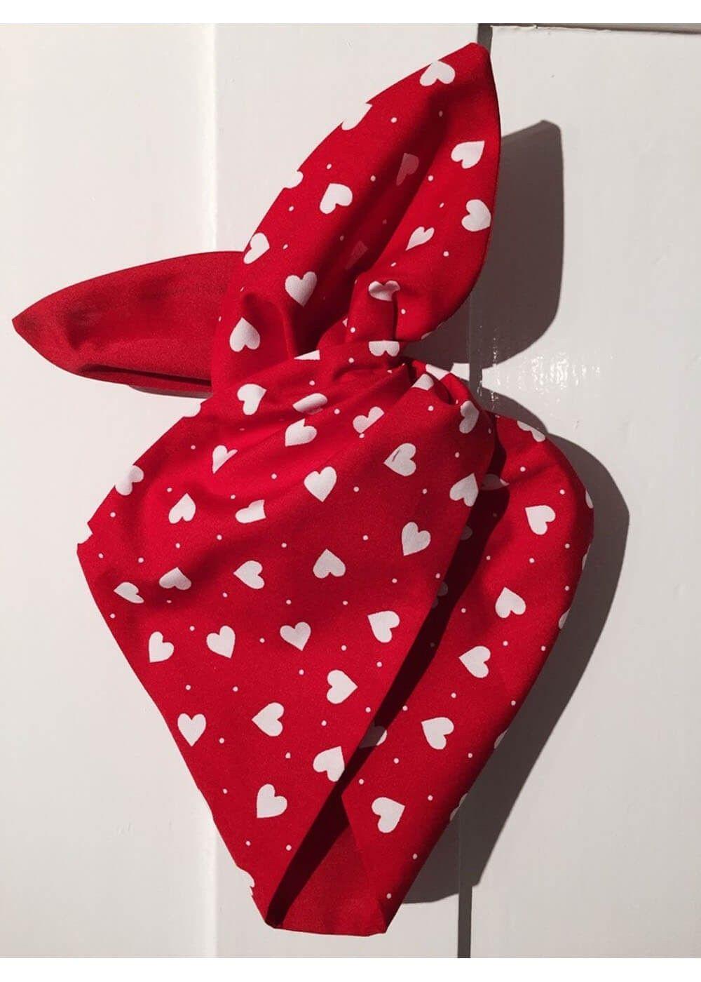 Be Bop Love Haarband Rood