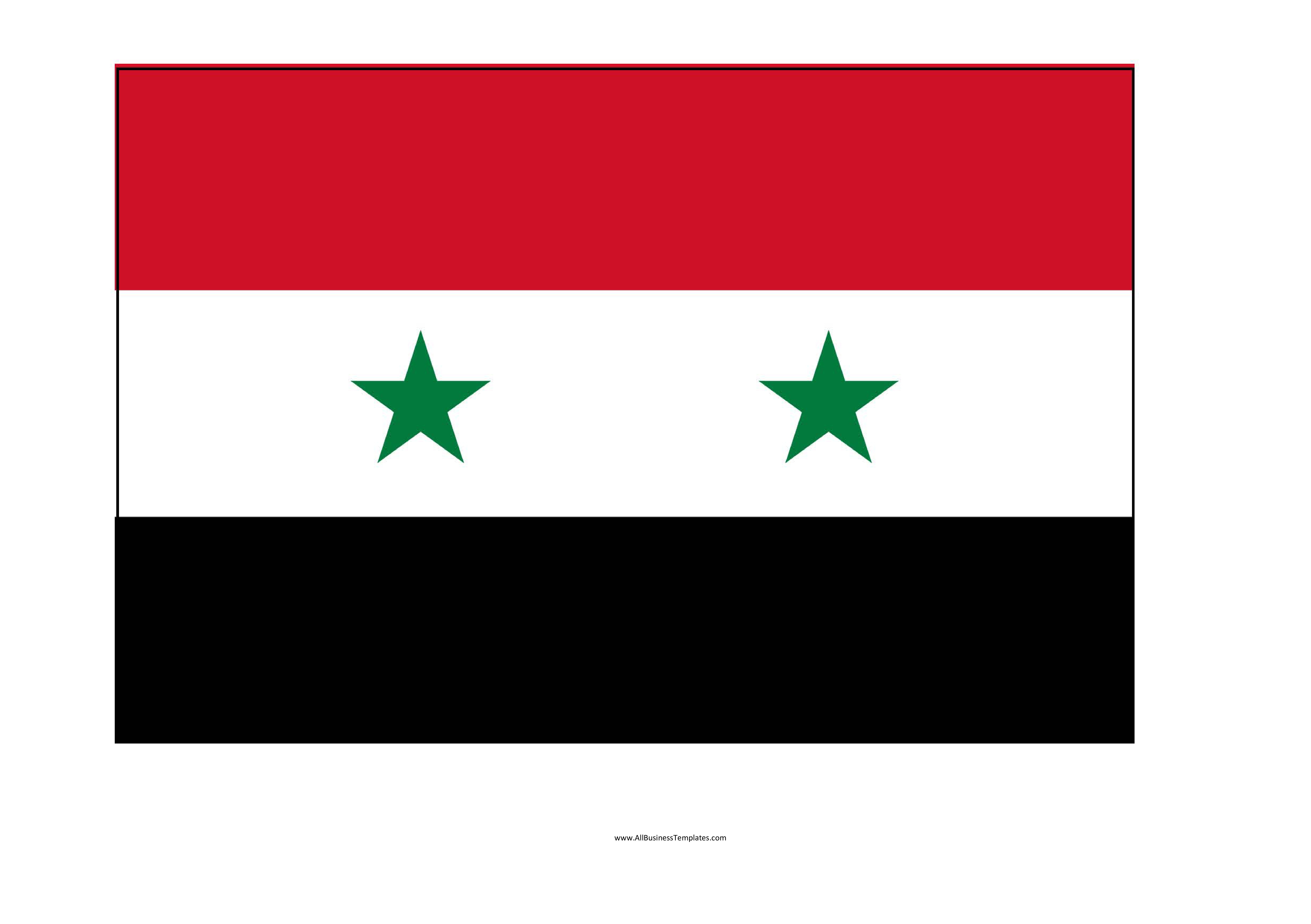 Syria Printable Flag Download This Syria Printable Template A4 Flag Syria Map In Flag Colors Syria Flag Outline Flag Template Templates Template Printable