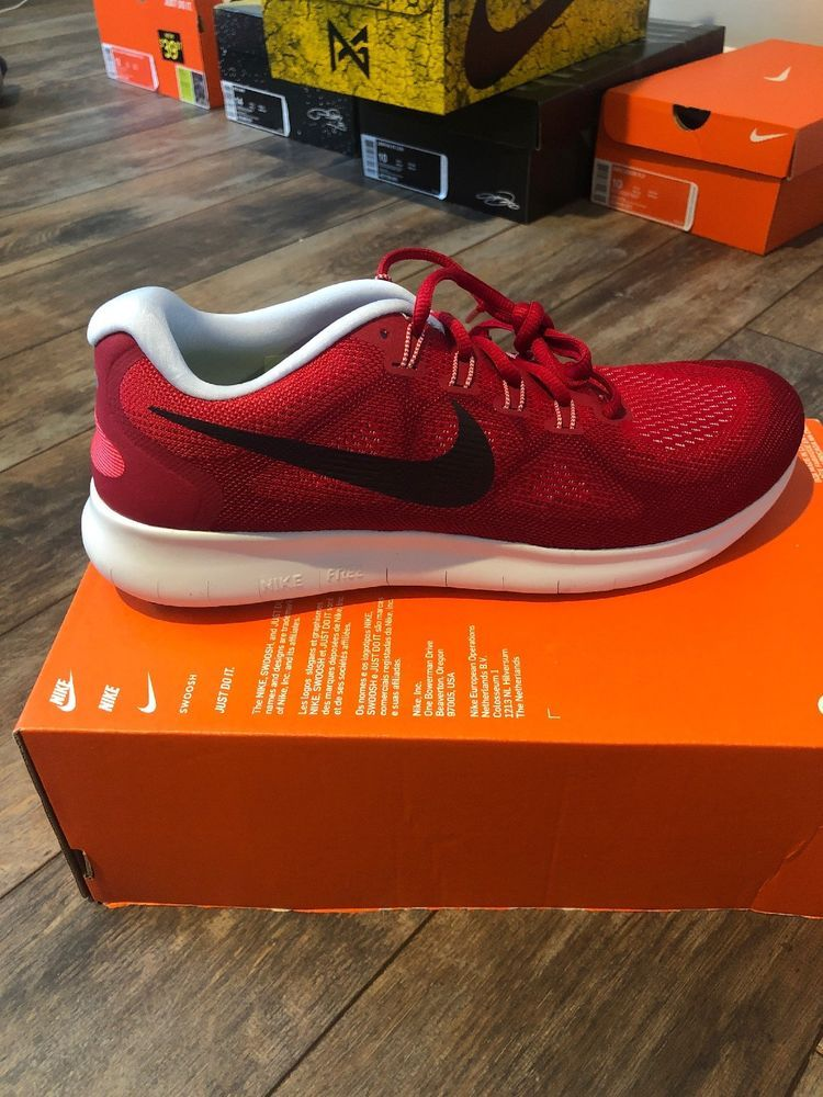 67cbab8f505a Nike Free RN 2017 Size 10 Men Running Shoe University Red  Port Wine.   fashion  clothing  shoes  accessories  mensshoes  athleticshoes (ebay link)