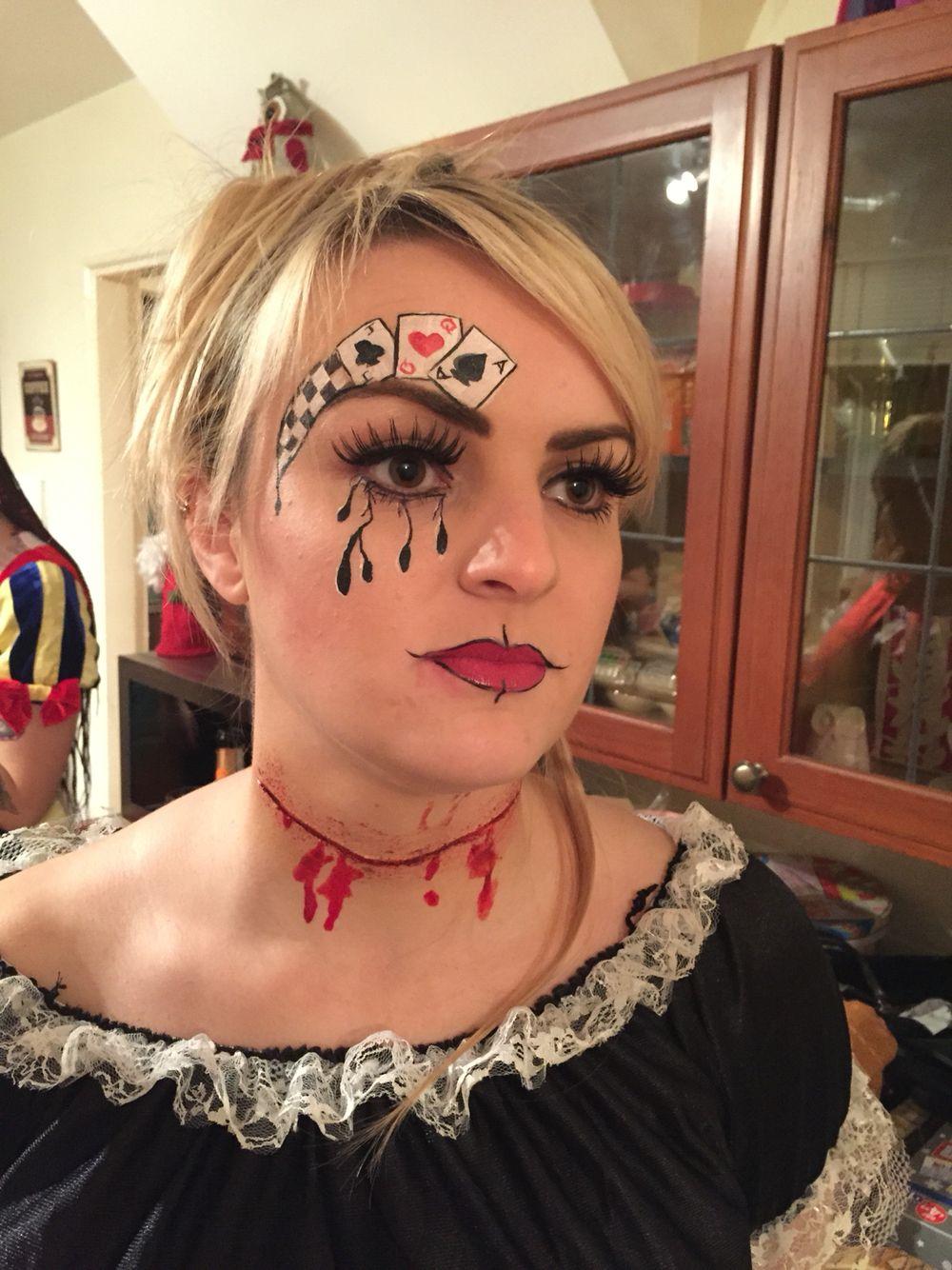 Alice in wonderland face paint