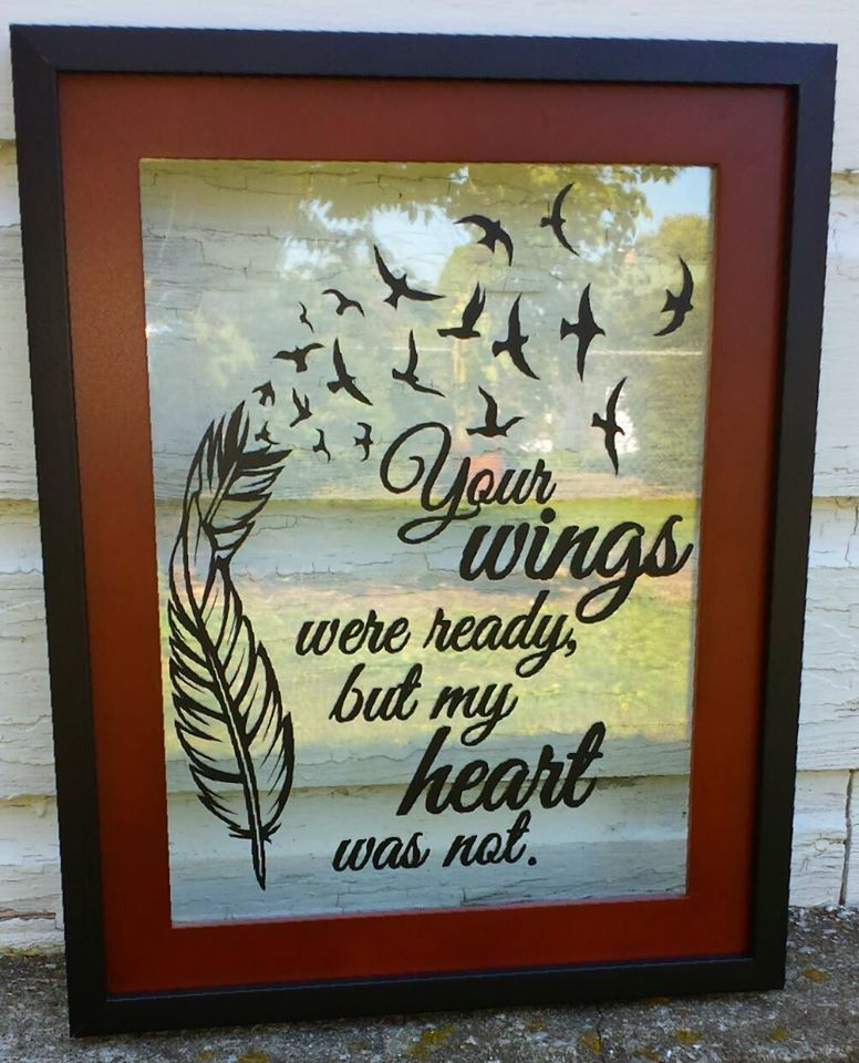 Your Wings Were Ready floating frame | Craft Ideas | Pinterest | Vinil