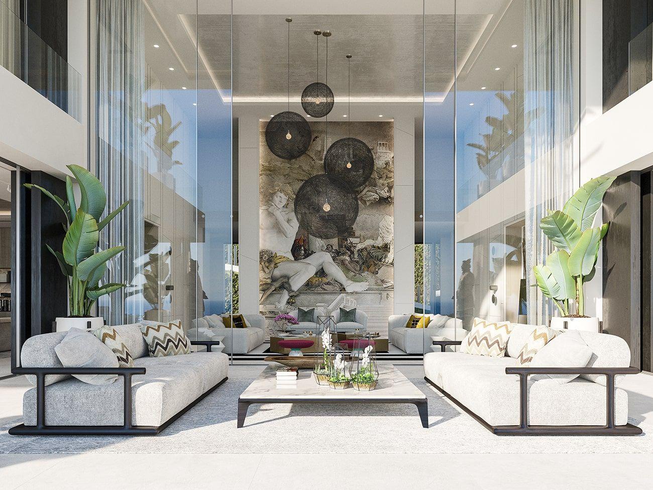 Unraveling A Luxury Living Room In A 15 Million Mansion In Capri Living Room Design Decor Luxury Living Room Home Room Design