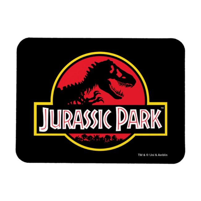 Jurassic Park Logo Magnet  Love the dinosaurs and the movies