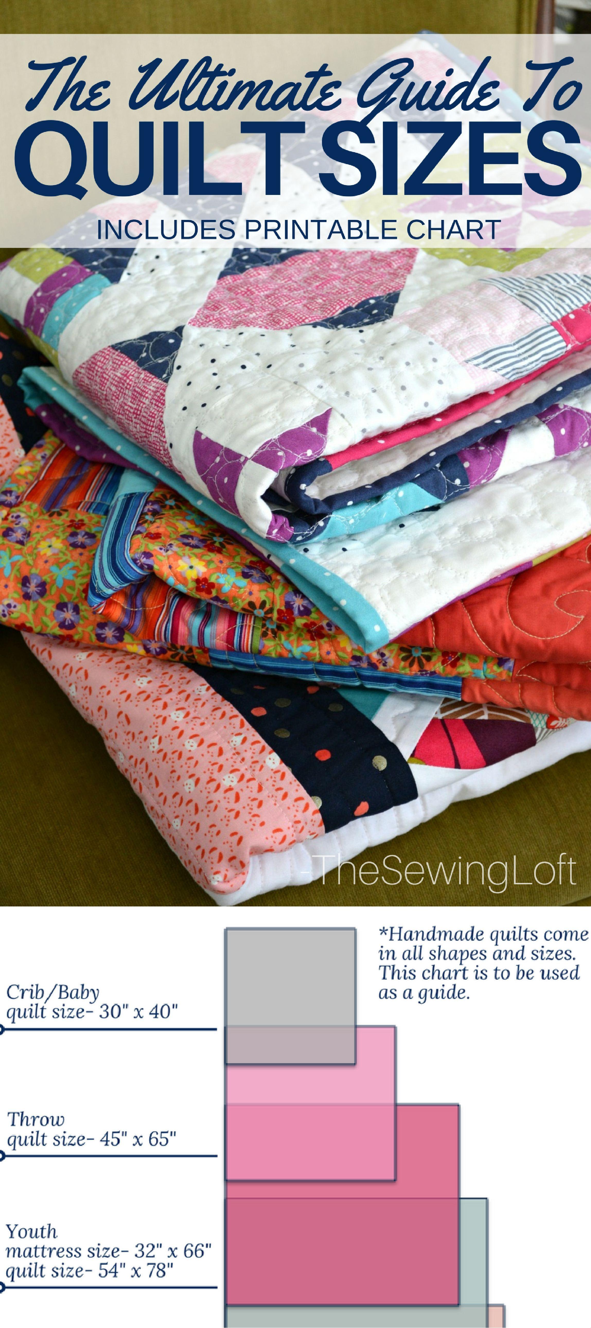 Quilt Size Chart   Quilt size charts, Quilt sizes and California king : handmade quilt sizes - Adamdwight.com