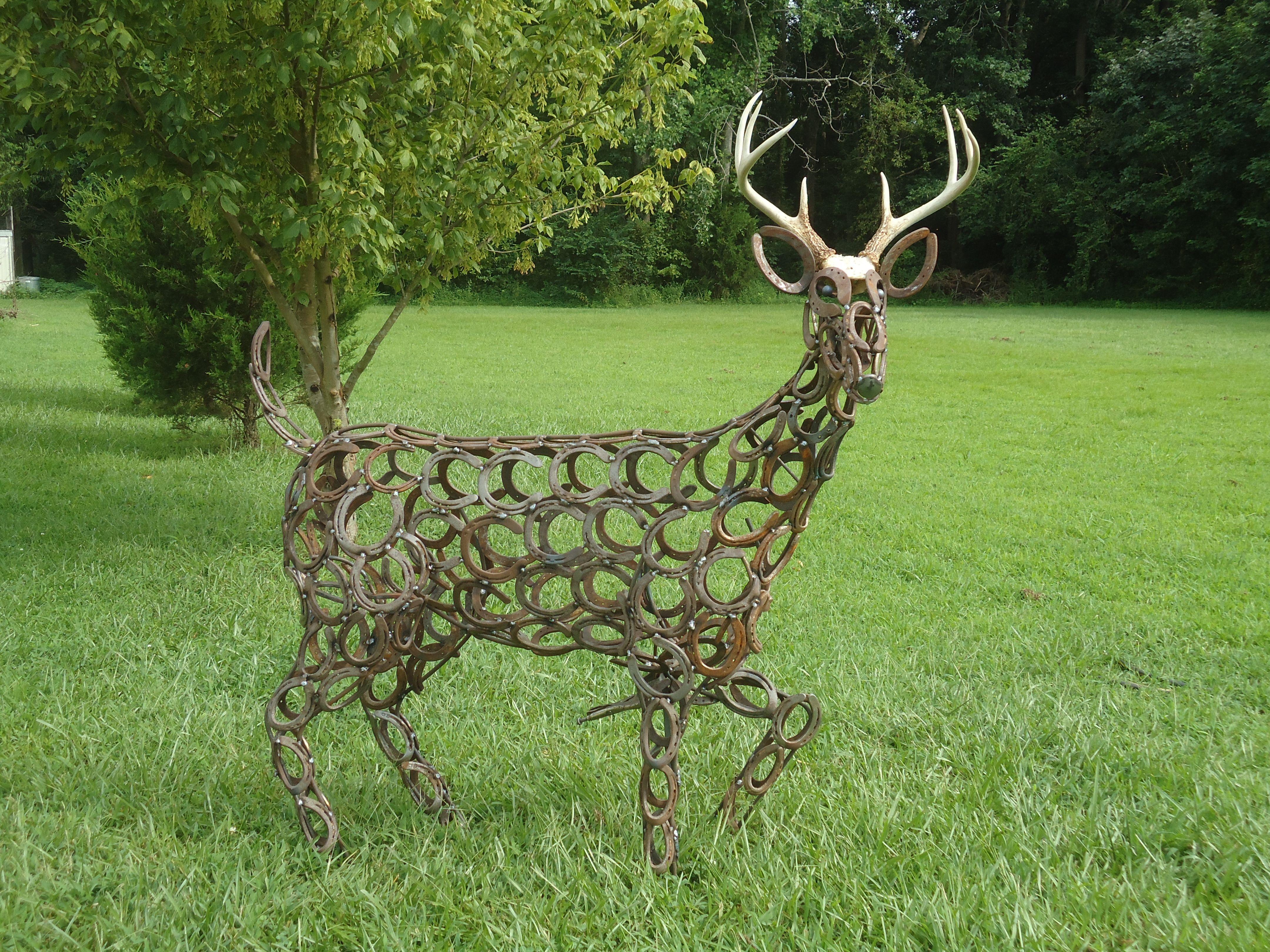 Deer Sculpture T. Shirk Barb Wire & Stuff Welding