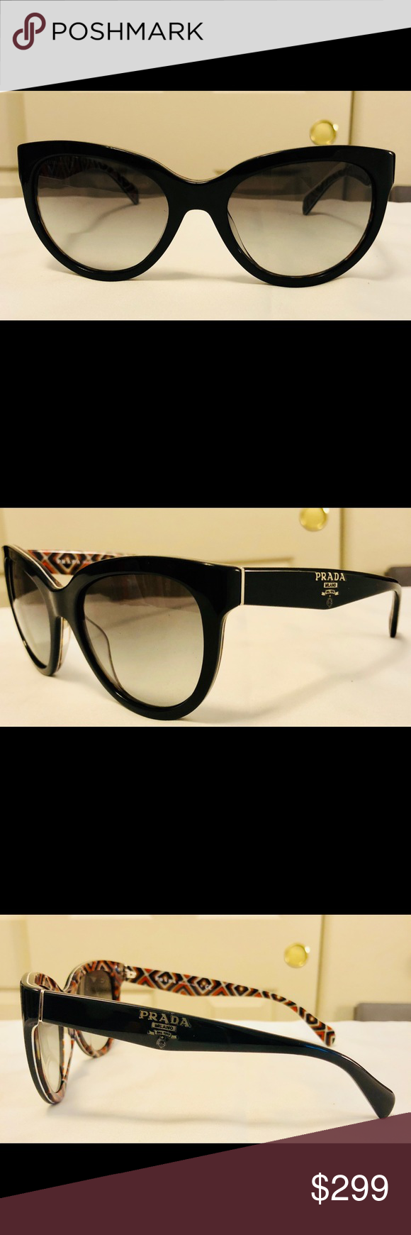 d684175377607 ... best price euc cat eye oversized prada sunglasses spr 05p coming prada  accessories sunglasses 4c526 abe6a
