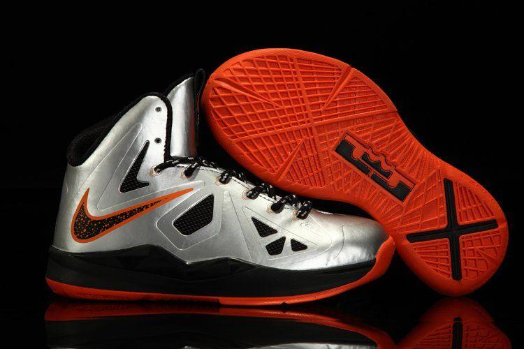 Nike Lebron 8 v/2 low black 10 solar red sprite wolf grey miami night