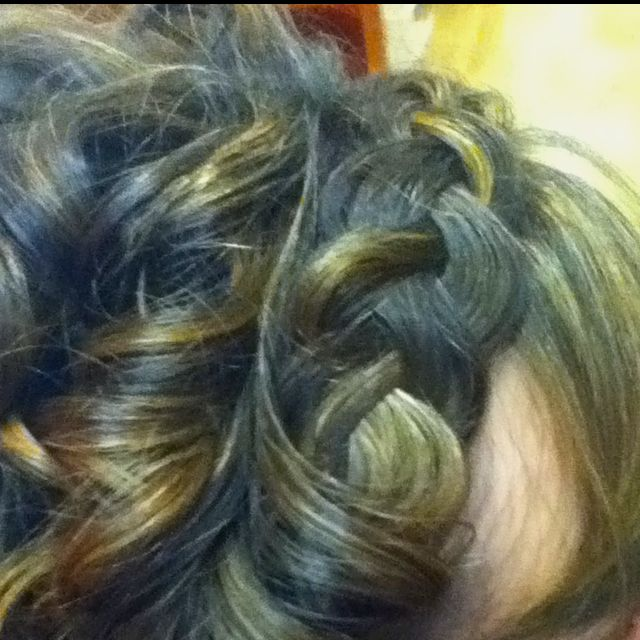 I love this french braid. Just do a regular French braid and pull on all the edges moving up the braid. Small braid turns into a chunky one and you get tons of compliments when you wear it!