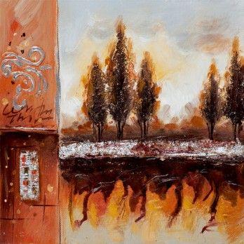 schilderij bomen 25x25 https://www.schilderijenshop.com