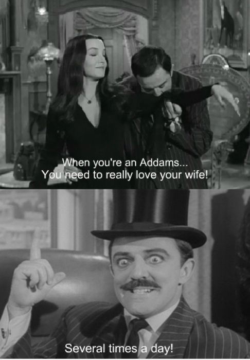 When You Re An Addams The Addams Family Pinterest Adams