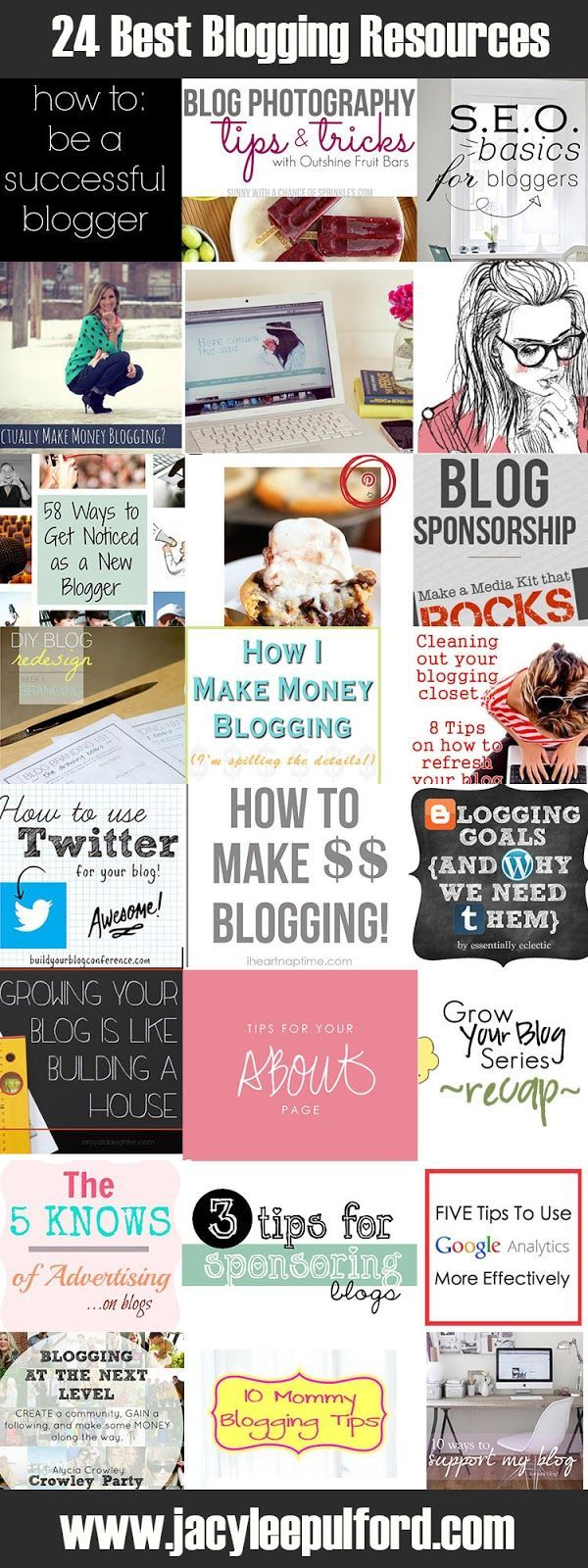 The 24 Best Blogging Resources http://www.jacyleepulford.com/2013 ...