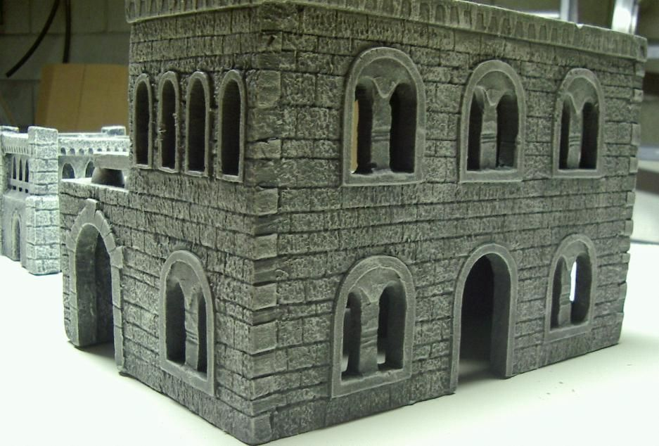 foam building tips for cutting foam to look like bricks or stones diorama miniaturen. Black Bedroom Furniture Sets. Home Design Ideas