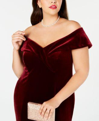 fc12657af7a39 Plus Size Off-The-Shoulder Velvet Gown in 2019 | Products | Velvet ...