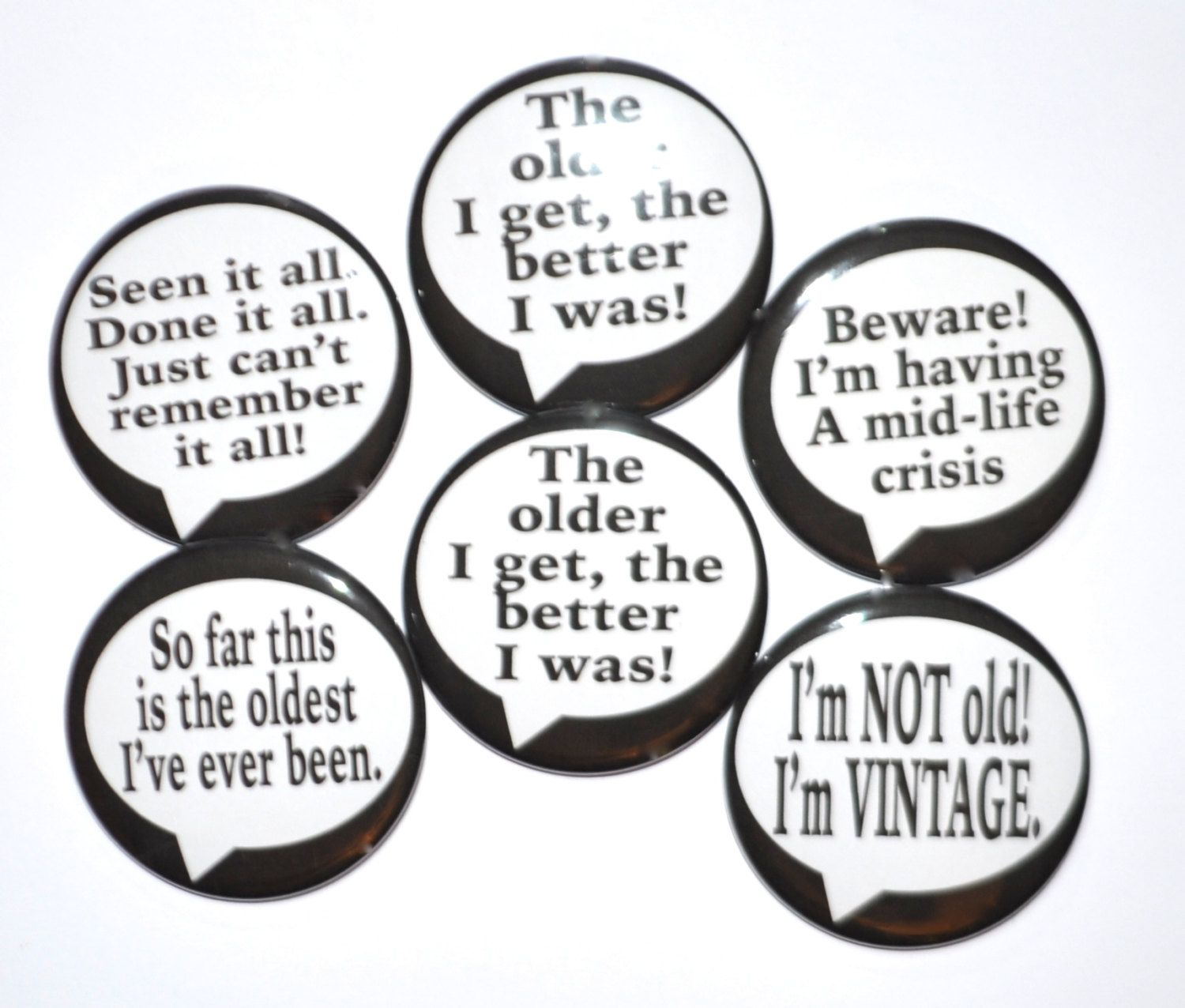 Over The Hill Birthday Buttons Birthday Party Idea Happy