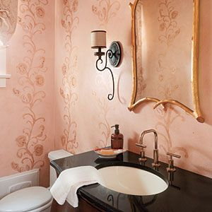 Powder Room | 2010 Southern Living Louisiana Idea House - Southern Living Mobile