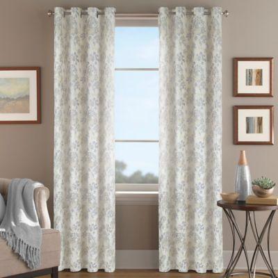 Magnolia Morocco Grommet Top Window Curtain Panel - BedBathandBeyond ...