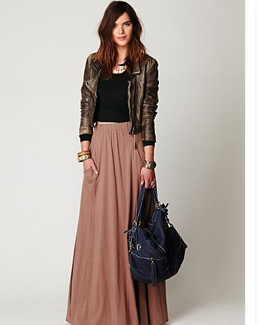 Shades of Brown | Leather and Maxi | Inspiration for hijab, hijab ...