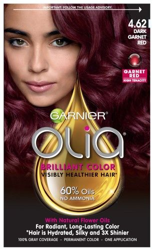Garnier Olia Oil Powered Permanent Hair Color 4 62 Dark Garnet