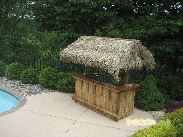 Tropical Tiki Bars   NJ TIKI BAR Backyard Patio Outdoor Furniture