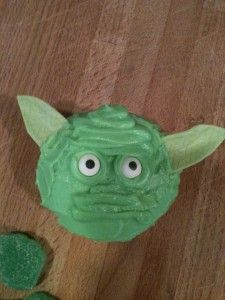 The force is strong with these Yoda cupcakes. (Couldn't resist!)