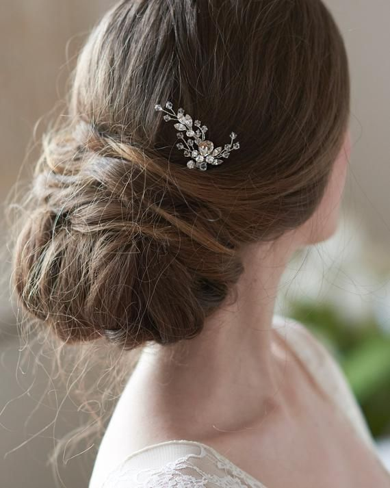 3314fd5048 Silver Swarovski Crystal Bridal Hair Pin,Wedding Hair Pin, Silver ...