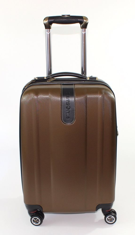 f6c043c10d Travel in Style with the Samsonite Oyster Bay Suitcase 20 Inch in Coffee  Brown ...