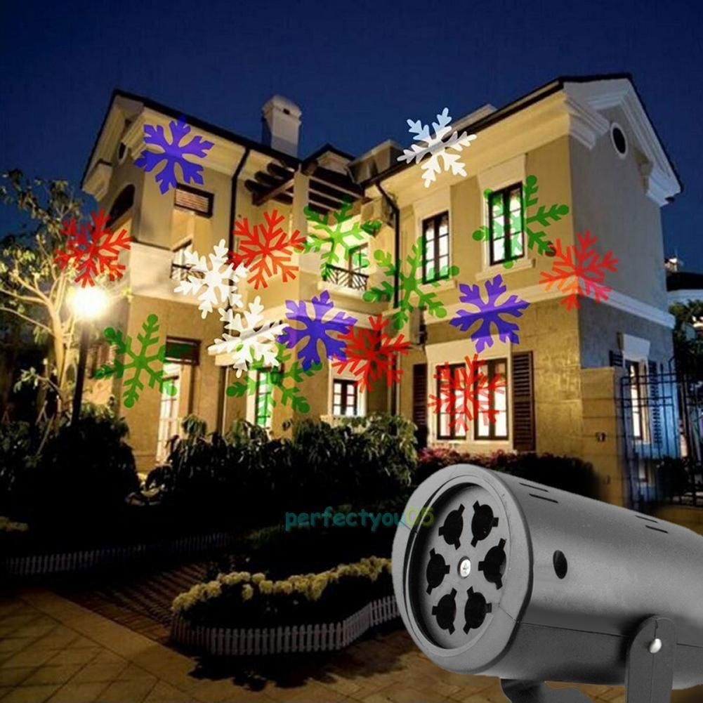 Outdoor Moving Snowflake Led Laser Light Projector Landscape Xmas Garden Lamp Outdoor Christmas Lights Xmas Lights Projector Wall