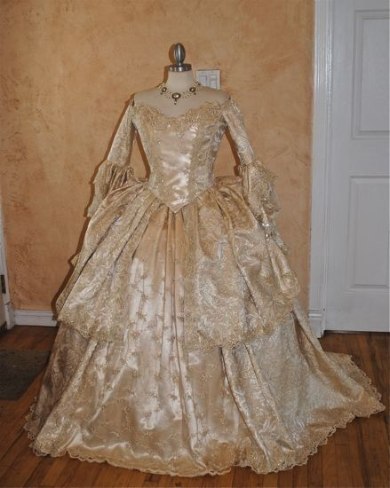Turn the clock back and this would be a lovely wedding dress.   Ultimate Fantasy Marie Antoinette Lace Back by RomanticThreads, $1250.00