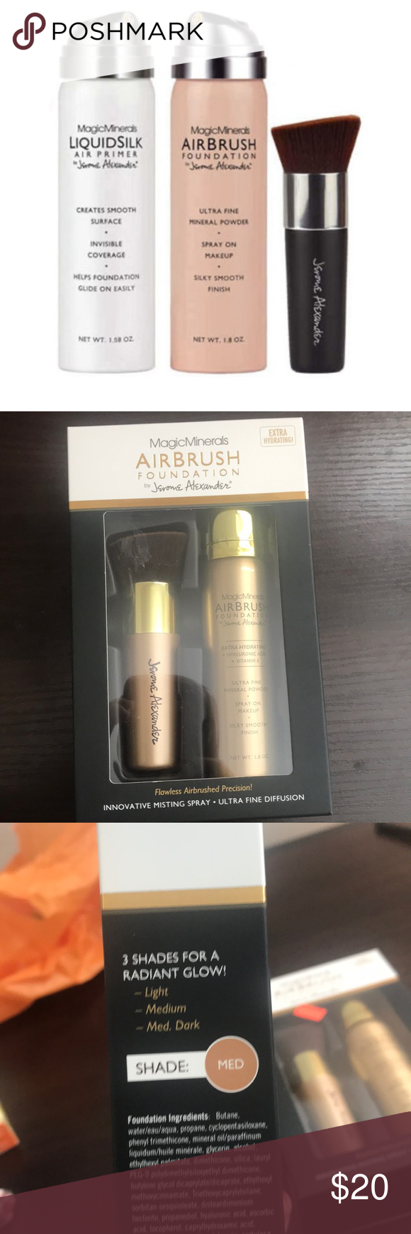 Airbrush Foundation With Brush Shade Medium NWT Airbrush
