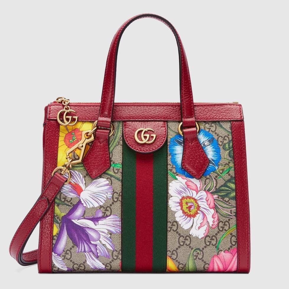 Gucci Ophidia Gg Flora Small Tote Bag I 2019 Gucci Och Vaskor