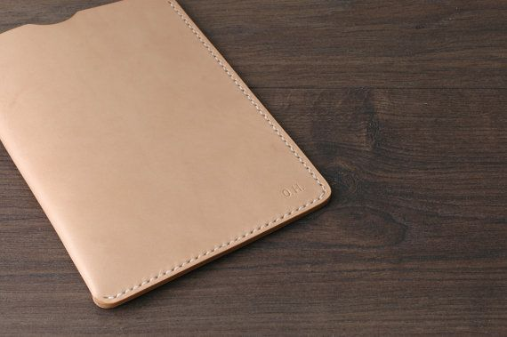 Ipad Mini Sleeve Leather Personalized Ipad Cover Case by khadesign